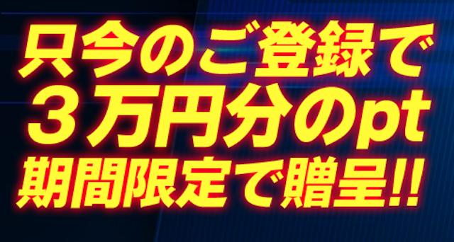 アイリアル3万円分のポイント付与