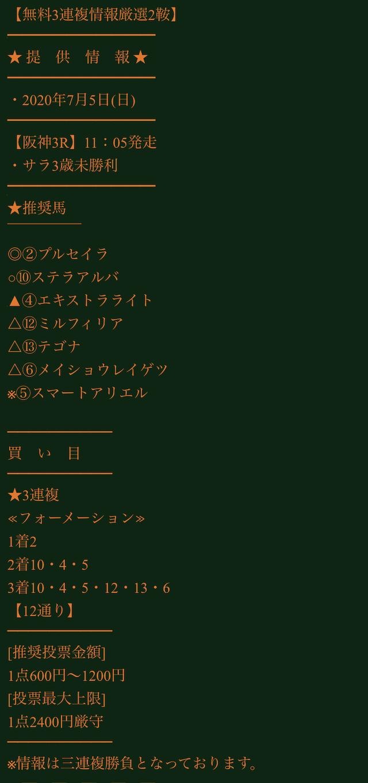 ギャロップジャパン2020年7月5日無料予想