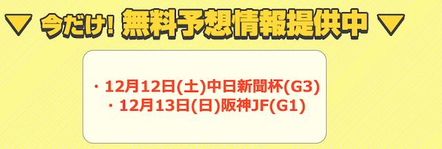 うまライブ2020年12月12・13日の予想提供