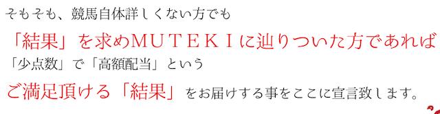 MUTEKIは「少点数」「高配当」で満足できる結果を届ける