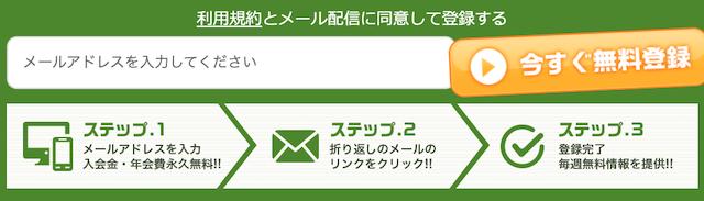 必勝万馬券ちゃんねるのメールアドレスの登録フォーム